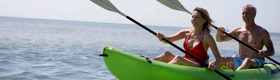 Figure Eight Island recreation includes kayaking