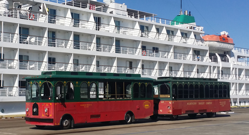 The Wilmington Trolley Tour is a wonderful way to visit historic downtown Wilmington, NC.