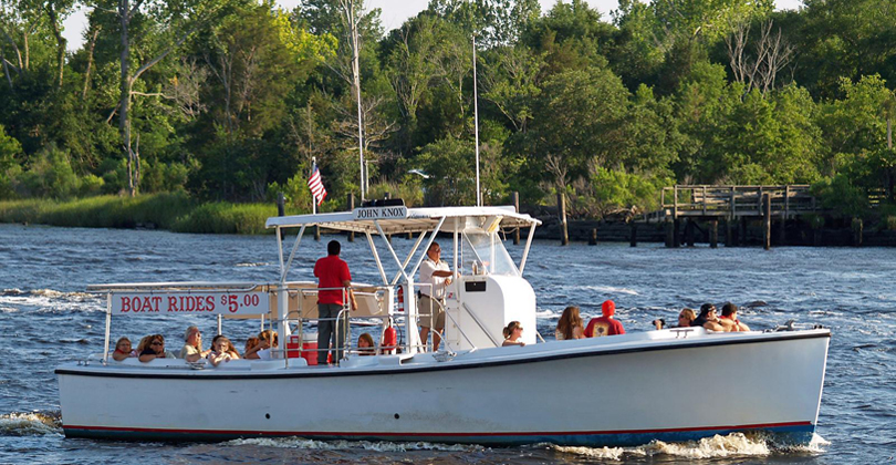 The John Knox boat is available for Cape Fear River tours.