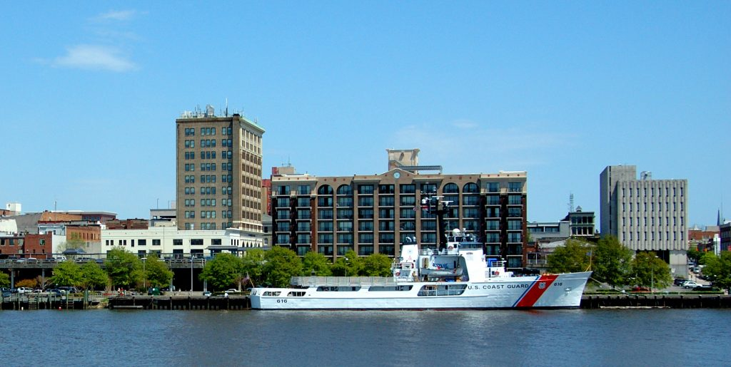 Diligence is berthed at Wilmington NC is home port for the Coast Guard cutter Diligence