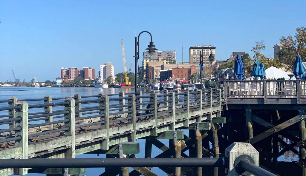 The Riverwalk in Downtown Wilmington, NC