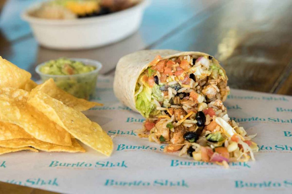 Burrito Shak Wilmington NC Burrito and Chips