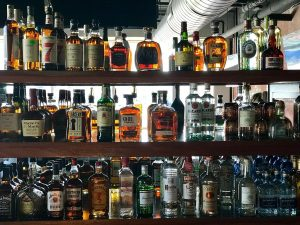 Liquor selection at the Fork n Cork