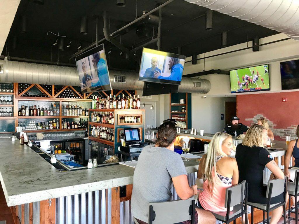 The bar at Fork n Cork in Carolina Beach,NC