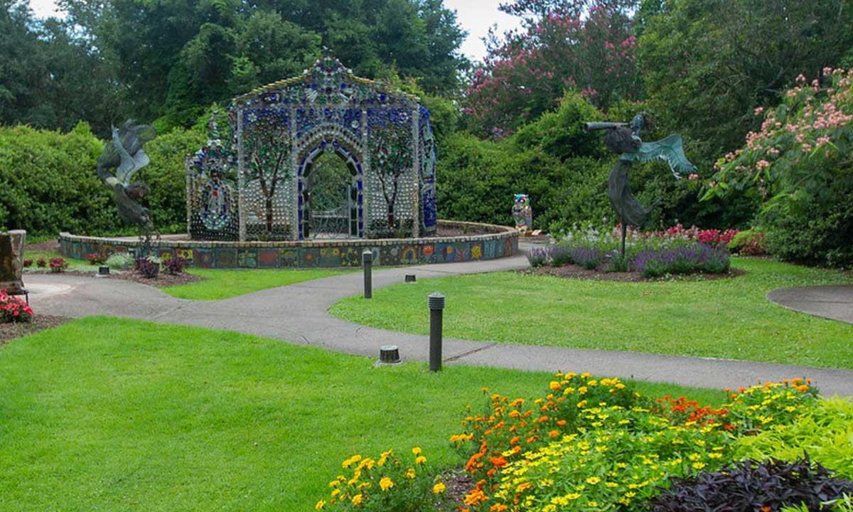 Airlie Gardens Art Exhibit Bottle Chapel